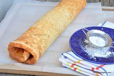 Blat de ruladă rețeta simplă cu vanilie. Cum se face blat pentru ruladă? Blat de vanilie simplu pentru rulade umplute cu gem sau creme, rețeta simplă și rapidă. Foaie sau pandișpan pentru ruladă pufoasă și ușor de răsucit. Cum se face o ruladă umplută cu gem, cremă, frișcă, fructe etc? Romanian Desserts, Cacao Beans, Rolls, Gem, Ethnic Recipes, Sweet, Food, Funny Animals, Cakes