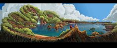 View an image titled 'Crater Landscape Art' in our Sonic Boom art gallery featuring official character designs, concept art, and promo pictures. Anna Cattish, Otto Schmidt, Mary Blair, Samurai Jack, Marvel 3, Sonic Boom, Environment Concept, Environment Design, Ideas