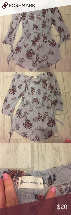 Floral romper Off the shoulder floral romper, worn once! the impeccable pig Pants Jumpsuits & Rompers