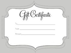 Printable Gift Certificate Templates   101 Gift Certificate Templates |  Massage | Pinterest | Gift Certificate Template
