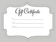 Present Voucher Template Birthday Gift Certificate Template  Literacy  Pinterest  Gift .