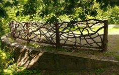 handmade fence at Olana, home of frederick church, greenport, NY