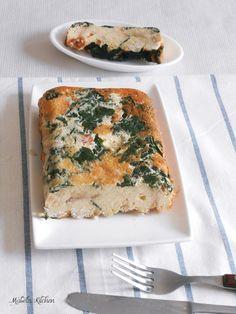 Mabel's Kitchen: Pudín Salado de Espinacas y Jamón.