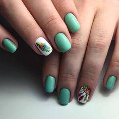 Fashion trends summer manicure new photos - Nailtrends Short Nail Manicure, Short Nails, Bride Nails, Beach Nails, Colorful Nail Designs, Nail Trends, Nail Arts, Toe Nails, Summer Nails