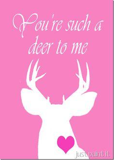 Deer head printable with links to 16 more free printables