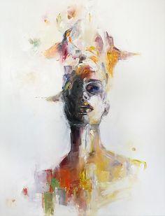 'AURA' Óleo sobre lienzo   María Álvarez Estévez   @maria_alvarez_e