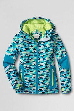 681929e7525d eBay  Sponsored Lands End 7 8 Girls Winter Jacket Blue Aqua Geo Print Coat