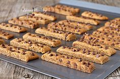 Chocolate Chip Cookie Sticks (gluten, grain, dairy free, paleo)