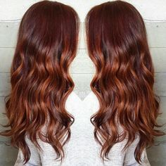Dark Red with Copper Balayage