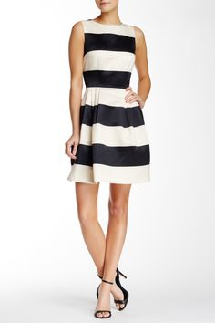 CeCe by Cynthia Steffe - Striped Fit & Flare Dress at Nordstrom Rack. Free Shipping on orders over $100.