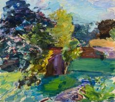 Henry Finkelstein, August Garden, oil on linen, 48 x 54 inches, at Valley House Gallery