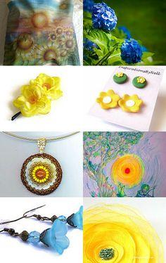 Sunshine and Flowers by Bonnie Sernesky on Etsy--Pinned with TreasuryPin.com #handmade #gifts #blitz http://www.etsy.com/treasury/MTAyNTIwOTZ8MjcyNTY3ODc3MA/sunshine-and-flowers