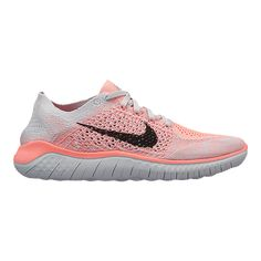 9ff25a359b01 Nike Women s Free RN Flyknit 2018 Running Shoes - Red Black Platinum -  CRIMSON