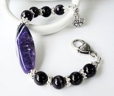 Amethyst Purple Black Large Focal Agate Gemstone by BijiBijoux,https://www.etsy.com/listing/92438703/amethyst-purple-black-large-focal-agate?ref=tre-2722768581-15