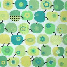 BW-Stoff Äpfel grün