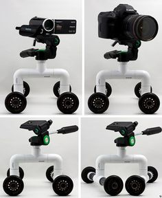 PVC Camera Dolly:  Create smooth, rolling shots with this video camera dolly. - FORMUFIT.com