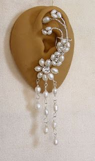 Elegant Ear Cuff Designs by Zannedelions - The Beading Gem's Journal #ear rings #beading #jewelry tutorials