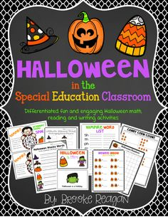 Halloween is such a fun time of year! Use these academic activities with your students. There are differentiated math, reading and writing Halloween activities.