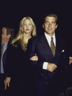 Premium Photographic Print: John F. Kennedy Jr. and Wife Carolyn at George Magazine's 2nd Anniversary Party by Dave Allocca : 24x18in