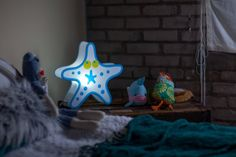 Nursery Lamp and Kids Room Starfish LED Light - Beachfront Decor
