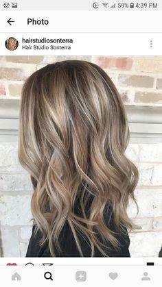 Hair Color Balayage, Balayage Highlights, Dark Blonde Balayage, Color Highlights, Babylights Blonde, Fall Blonde Hair Color, Blonde For Fall, Fall Hair Highlights, Dyed Hair