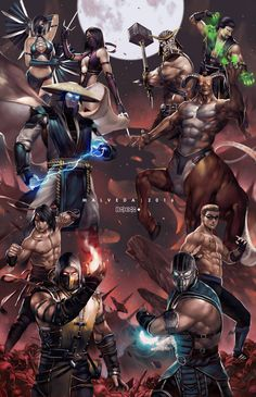"""So what is the """"Mortal Kombat Quiz? We show you 10 images of Mortal Kombat personages. Escorpion Mortal Kombat, Mortal Kombat X Characters, Video Game Art, Video Games, Mundo Dos Games, Arte Nerd, Mileena, Gaming Wallpapers, King Of Fighters"""