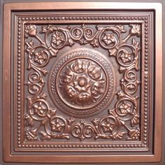"24""x24"" Majesty Antique Copper Brown PVC 20mil Ceiling Tiles - Best SELLER!, Antique Ceilings- glue up ceiling tiles and drop in grid ceiling tiles- Antique Ceilings-"