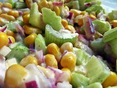 Dietetyczna sałatka z selera naciowego - Feel Eat Polish Recipes, Pasta Salad, Potato Salad, Food And Drink, Potatoes, Menu, Healthy Recipes, Snacks, Vegetables
