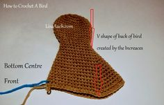 How to crochet a bird detailed bird wings Free Crochet Patterns by LisaAuch