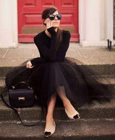 Alexandra Grecco Black Tulle Tutu Skirt