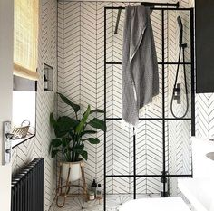 This morning I am sharing some love for this beautiful ensuite from what I would do for this shower screen! Such a beautiful monochrome space. Hope you have a lovely bank holiday sunday. Diy Bathroom Decor, Bathroom Styling, Bathroom Interior, Small Bathroom, Bathroom Ideas, Bathroom Inspo, Downstairs Bathroom, Master Bathroom, Mandarin Stone