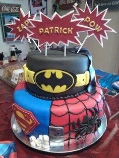 Super super hero cake.