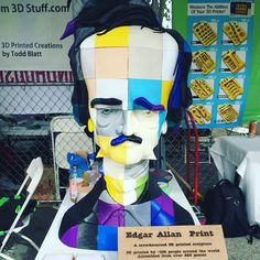 Something we liked from Instagram! This was one of my fav pieces at @makerfaire this past weekend. The pieces were shipped to and designed by 100 different people. Then returned to the printer to be assembled. #edgarallanpoe #poe #3dprinting #3dprinter #blocks #theraven #art #makerfaire #printers #printing #design #crowdsource by metaltaboo check us out: http://bit.ly/1KyLetq
