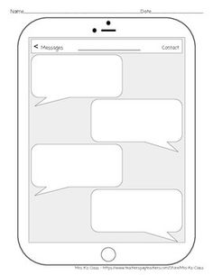 Blank Text Message Template
