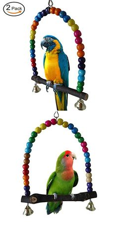 Small Pet Bird Swing Ladder Toy Small Pet Playing Toy Supplies Wooden Climbing Ladder For Bird Parrot Hamster Cage Decoration Bright And Translucent In Appearance Bird Toys Bird Supplies