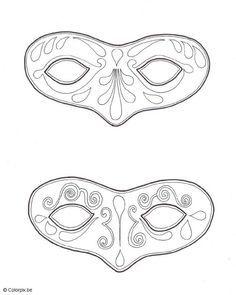 Malvorlage  Masken