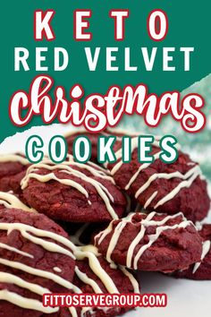 Red velvet goes keto! That's right you can enjoy red velvet keto cookies and remain keto compliant with these delicious low carb cookies. These keto cookies are the perfect Christmas low carb red velvet cookies.Keto cookies| low carb cookies| keto red velvet cookies| low carb red velvet cookies
