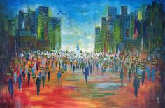 The republican march - Jan 2015 - Thao Acrylic - 116x81