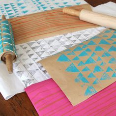 DIY Gift Wrap - Homemade Wrapping Paper for Valentine's Day - Easy to Make, Beautiful to Gift