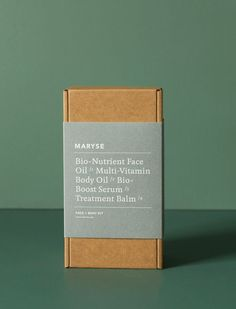 2018 Holiday Gift Guide: 5 Gift Kits for the Practical-Minded Person - Remodelista - Packaging - The Face + Body Kit by Maryse features all the 'hero' products from her bespoke, cult skin coll - Perfume Packaging, Candle Packaging, Coffee Packaging, Soap Packaging, Print Packaging, Beauty Packaging, Cosmetic Packaging, Packaging Boxes, Types Of Packaging