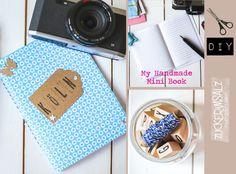 Notizbuch super einfach und schnell selbst gemacht ... notebook DIY ... quick and easy the perfect gift