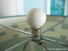 DIY lamp finial....  Oh the possibilities!
