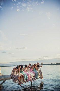 wedding bridemaids photo