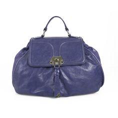 Francesco Biasia Blue Leather Top Handle Crossbody Shoulder Bag Handbag  Dark Blue Color 6a48bd85222a1