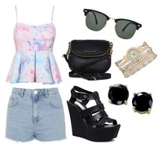 """""""Casual#1"""" by jajina-morongova ❤ liked on Polyvore featuring Mode, Topshop, Steve Madden, Michael Kors, Ray-Ban, maurices und B. Brilliant"""