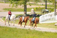 Ride my horse through Gettysburg.