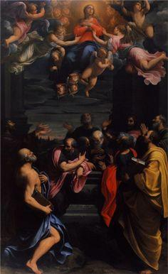 Guido Reni. Asunción, 1600. Óleo sobre lienzo. WikiPaintings.org