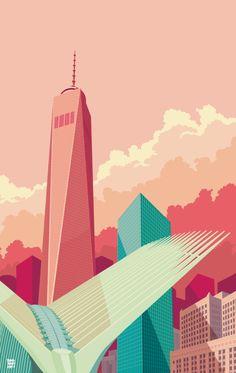 WTC NYC Art Print by Remko Gap Heemskerk | Society6