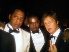 Jay Z, Kanye West, and Sir Paul McCartney