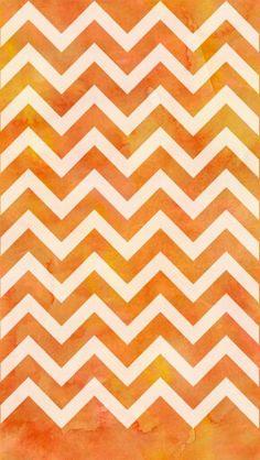 Galaxy chevron wallpaper orange
